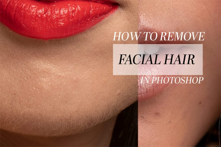 3 Techniques to remove peach fuzz. Beauty Image editing.